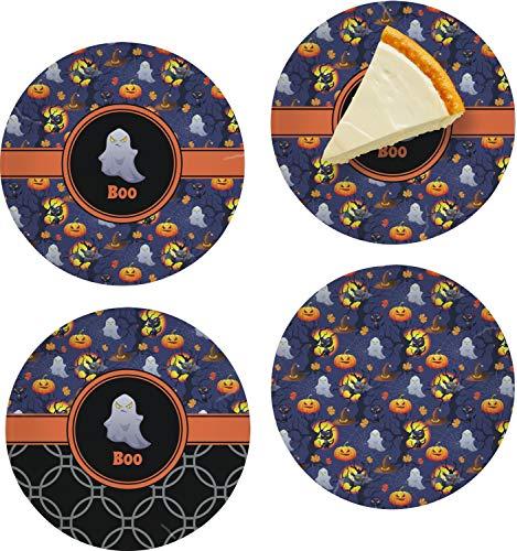 Halloween Night Set of 4 Glass Appetizer/Dessert Plate 8