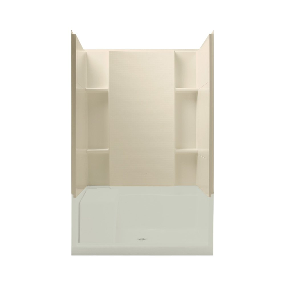 Sterling Plumbing 72284106-47 Accord 48-Inch 4-Piece Complete Wall Set with Backers, Almond by Sterling Plumbing