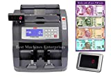 BME Turbo 1500 - Heavy duty latest Fully Automatic Note/Money/Cash Counting Machine with Fake Note Detection. Can Check and Detect New Rs 2000/500/200/50 notes. UV,MG and IR sensors.Future upgradeable.Can also be used for USD and Euros. 1 Year warranty