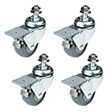 POWERTEC 17202 Dual-Locking Swivel Caster Set, 4-Pack 4, 2-3/8-Inch