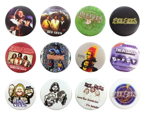 Bee Gees Gibb (2) Awesome Quality Lot of 12 New Pins Pinback Buttons Badge 1.25