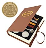 Samyo Stamp Seal Sealing Wax Vintage Classic Old-Fashioned Antique Alphabet Initial Letter Set Brass Color Creative Romantic Stamp Maker (E) offers