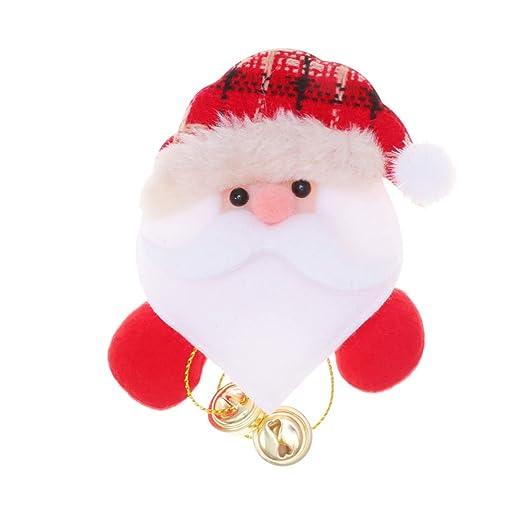 TOYANDONA alfileres de Broche de Santa Claus de Navidad con Luces ...