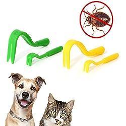 2Pcs Pack x 2 Sizes Tick Remover Hook Tool Combs Flea Twister Pet Pest Control Supplies