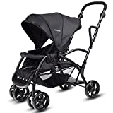 Cheap BABY JOY Stand and Ride Stroller, Stand On Tandem Stroller, Sit and Stand Stroller for Babies, Ultra Light Stroller (Black)