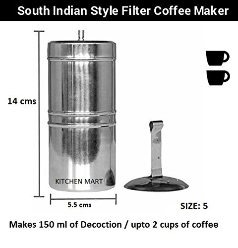 Stainless Steel South Indian Filter Coffee Drip Maker (2 Cup)