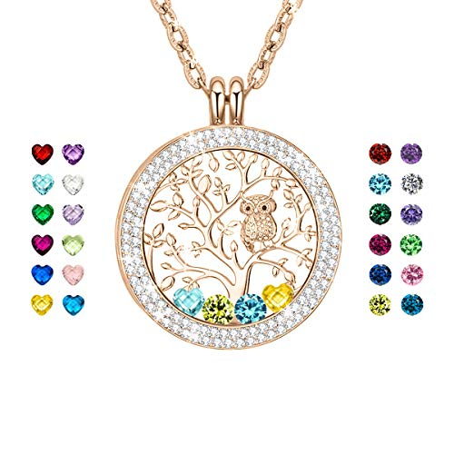 CLORIS TAUTOU Mothers Day Necklace, Birthstone Necklace for Mothers