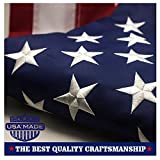 American Flag 3x5 ft - Embroidered Stars Sewn Stripes Brass Grommets U.S. Flags