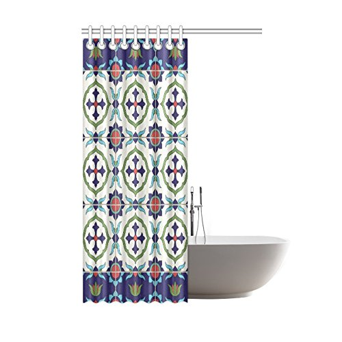 Well Wreapped Shower Curtain Gorgeous Tiles Pattern Polyester Fabric Print Bathroom Bath 42 X72