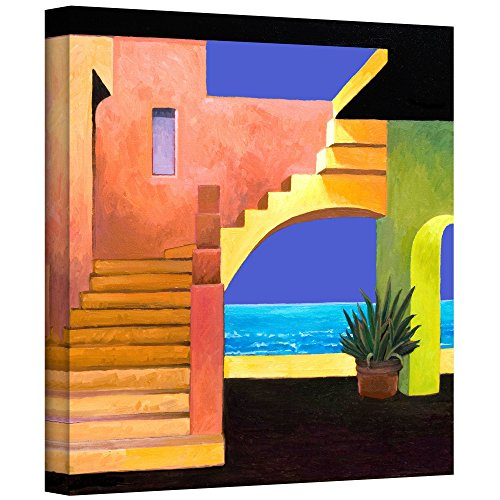 Art Wall Rick Kersten 'Casa del Mar' Canvas Orange wall art