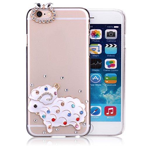 """Infinite U Jewellery 3D Bling Strass Plastique Transparent Mouton Charmant Case/Coque/Etui de Téléphone Mobile pour iPhone 6/6s 4.7"""" Femme"""