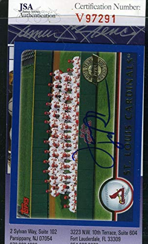 (TONY LARUSSA 2003 Topps Coa Hand Signed Authentic Autograph - JSA Certified - Baseball Slabbed Autographed Cards)