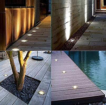 Foco De Suelo Luz Enterrada Al Aire Libre LED Lámpara De Suelo Jardín A Prueba Polvo Prueba Agua Luz Empotrada En El Suelo Césped Cuadrado [Clase De Energía A +] (Color :