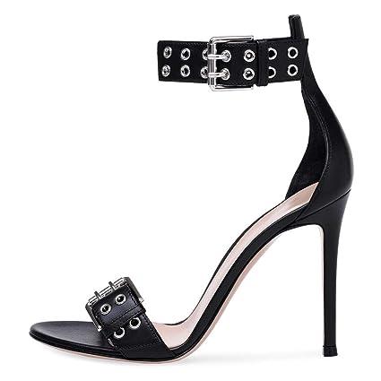 d9e6a9e5fd179 Amazon.com: FCXBQ Openwork Sandals, Stiletto Open Toe Sandals High ...