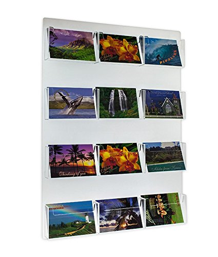 - Source One Multiple Pocket Deluxe Clear Postcard Holder Display Wall Mount (1 Pack, 12 Pocket)