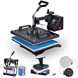 OrangeA Heat Press 8 in 1 Swing Away Heat Press Machine 900W Hat Press Multifunction Hat Mug Plate Cap 15X12Inch Heat Platen (12X15INCH 8 in 1 Swing Away)