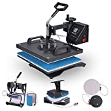 BestEquip Heat Press 6 in 1 Multifunctional T Shirt Heat Press 12x15 Inch Heat Press Machine for T-shirt Hat Mug Plate Cap Digital Control