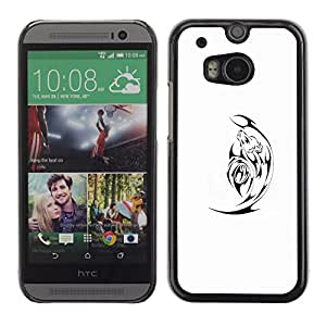 Exotic-Star ( Black Minimalist White Satan ) Fundas Cover Cubre Hard Case Cover para HTC One M8