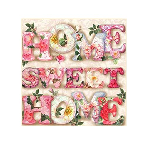 Lavany 5D Diamond Painting Kit,Flower Home Full Drill Nature Paintings By Number Kits Embroidery DIY Rhinestone Pictures for Kids Adult Clearence (Sweet Home◆Pink)]()