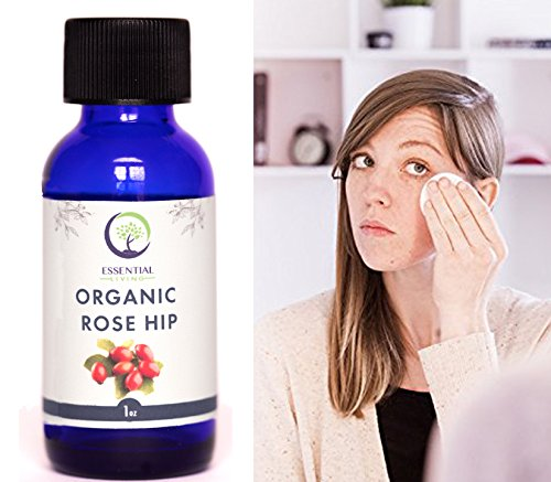 USDA Cold Pressed Organic Rosehip Oil (1oz) - Cold Pressed & Unrefined for Face, Skin and Hair: Organic Rose Hip