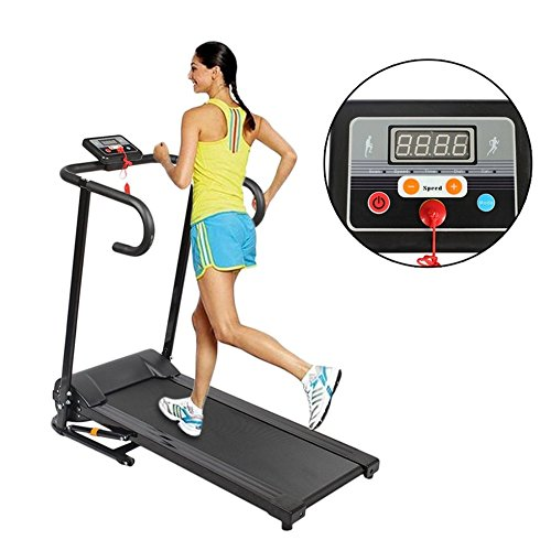 Hehilark Digital Folding Treadmill,1.0km/h to 10km/h Motorised Electric Treadmill/Folding Running Machine with LED display(HSM-T09B)