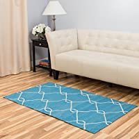 Harbormill Chain-Link Area Rug, 3 x 5, Turquoise
