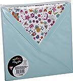 Clairefontaine Pollen 53600C Pack de 10 Enveloppes 16,50 x 16,50 x 0,10 cm Vert Jade