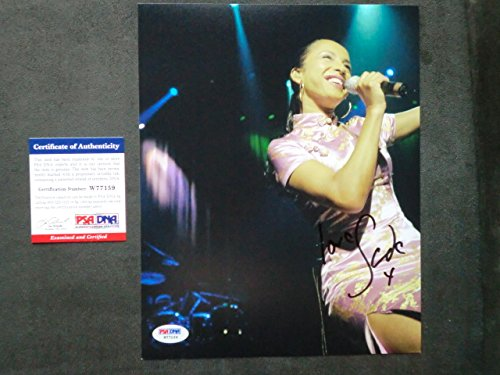 Astonishing Sade Adu Rare Signed 8X10 Photo On Stage Psa Dna Cert At Download Free Architecture Designs Scobabritishbridgeorg