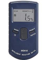 Misuratore di umidità digitale, MD918 LCD Induttivo Misuratore di umidità del legno Rilevatore di umidità del legname 4% ~ 80% RH