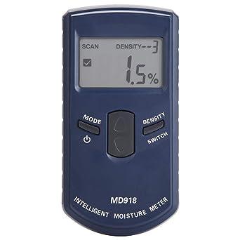 Medidor de humedad de madera, MD918 Digital LCD Medidor de humedad de madera inductivo Detector Humedad ...