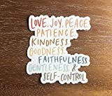 Fruit of the Spirit Christian sticker for a hydro flask, laptop, water bottle   Waterproof, vinyl, aesthetic sticker   Love joy peace kindness