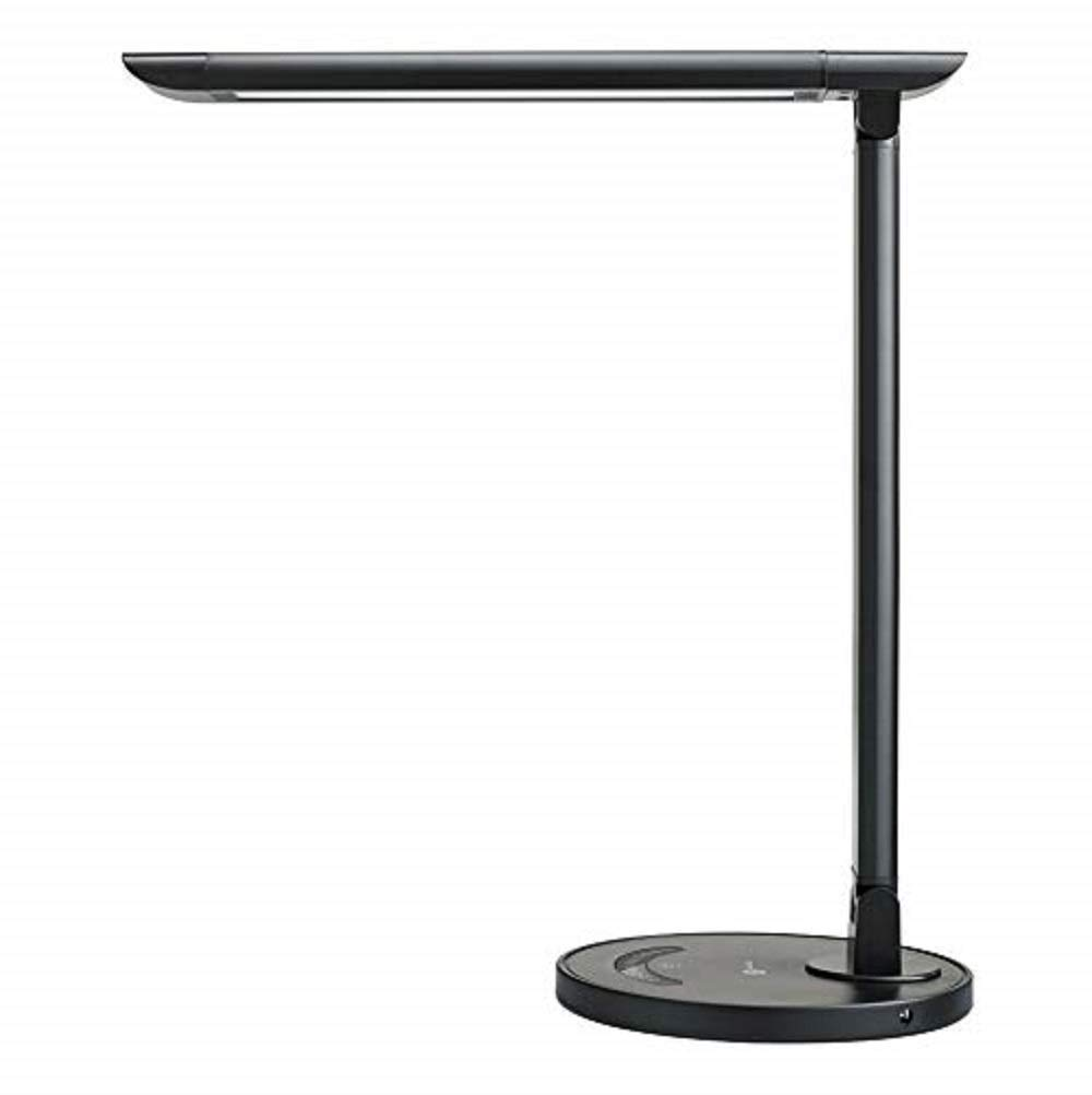 TaoTronics TT-DL13B LED Desk Lamp Eye-caring Table Lamps, Dimmable Office Lamp with USB Charging Port, Touch Control, 12W, 5 Color Modes, Philips EnabLED Licensing Program (Black) by TaoTronics