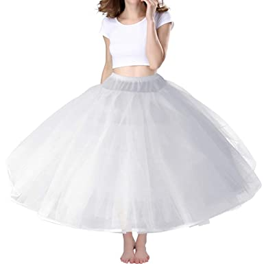 6b022e037fdf Amazon.com: A-Line Hoopless Petticoat Crinoline Underskirt Slip for A-Line Ball  Gown Wedding Dress Hoopless Ball Gown Petticoat: Clothing