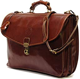Cenzo 4050 Italian Leather Briefcase Attache