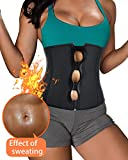 BRABIC Women's Neoprene Zipper & Buckle Underbust Cincher Waist Trainer Corset Sport Workout Body Shaper Tummy Control