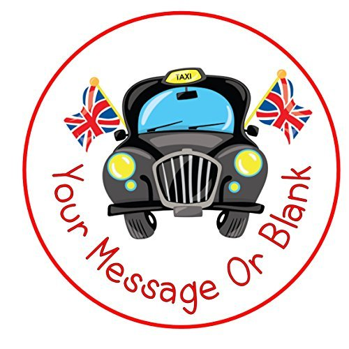 Black Cabs London (Black Cab london taxi ND1 Birthday Personalised Round Cake Topper approx 7.5 by Print4you)