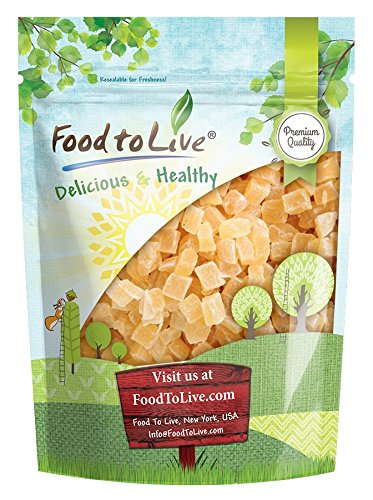 Food to Live Dried Diced Pineapple (Sweetened, Unsulfured, Kosher, Bulk) (1 Pound)