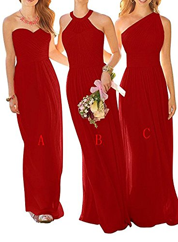 Damen Kleid of Leader Beauty Red A the A Linie t6x7waq