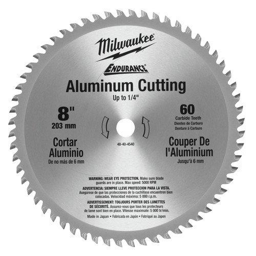 Milwaukee 48-40-4540 8 in. Aluminum Circular Saw Blade (60 Tooth)