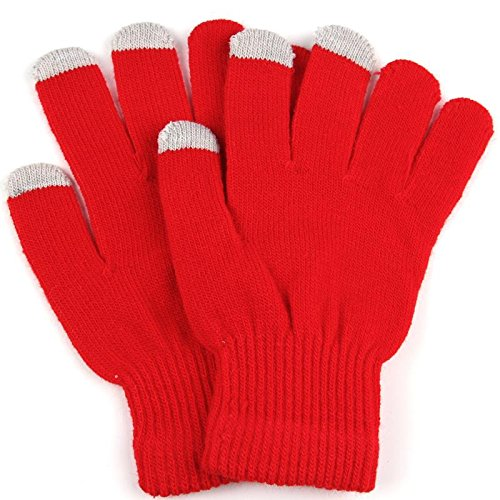 SEAZON DEALS WaitingU Winter Case Simple Thicken Soft Warm Texting Touch Screen Gloves For All Touchscreen Electronic Devices iPhone Laptop Touchnology Fingertips Outdoors Cycling ()