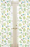 Sweet Jojo Designs 2-Piece Turquoise and Lime Layla Floral Print Window Treatment Panels Review