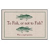 ALGODÓN ALTO Para pescar o no pescar Felpudo para interiores y exteriores