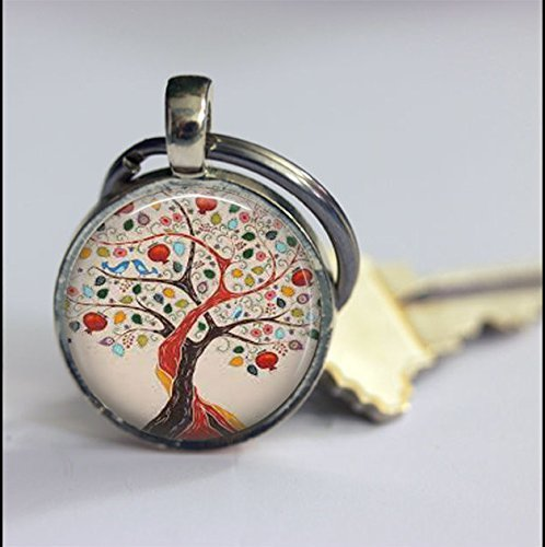 Llavero vintage con diseño de árbol de la vida, de plata ...