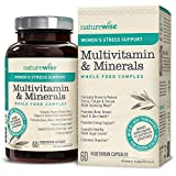 NatureWise Women's Stress Support Multivitamin and Minerals Whole Food Complex with Sensoril Ashwagandha, Probiotics, 12 Whole Fruits and Vegetables (Packaging May Vary) [1 Month Supply - 60 Capsules]