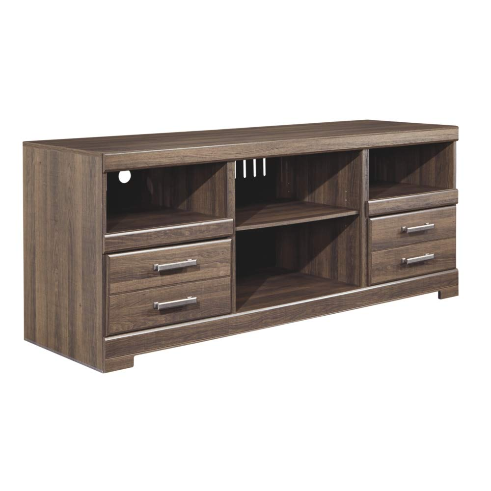 Ashley Frantin 63 TV Stand in Vintage Aged Brown