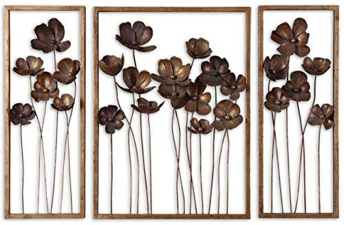 Uttermost Grace Feyock 3 Pc Set Decorative Metal Tulips Wall ()