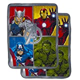 """2 Pack Cozy Inside Out Or The Avengers Soft Fleece 46x60"""" Plush Throw Blankets For Kids Girl Boy"""