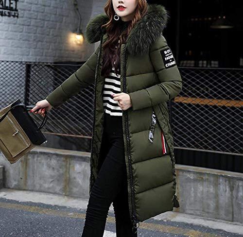 Trapuntato Caldo Zipper Oversize Inverno Tasche Lungo Coat Impronta Saoye Kaffee Ladies Fashion Giacca Cappuccio Autunno Down Con Manica Imbottito Vestiti nYxwn16q4
