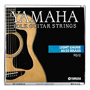 yamaha fg12 folk guitar strings light gauge 80 20 brass musical instruments. Black Bedroom Furniture Sets. Home Design Ideas