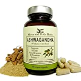 Ashwagandha Herbal Supplement – Extra Strength Ashwagandha Extract, Pure Organic Ashwagandha Root Powder with BioPerine Black Pepper – 60 Vegan Capsules – Made in USA